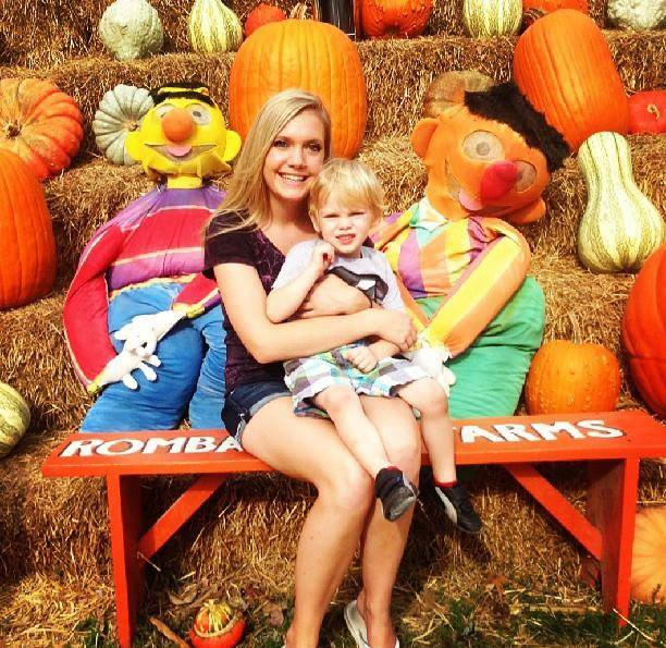 Merkt and Landon at pumpkin patch